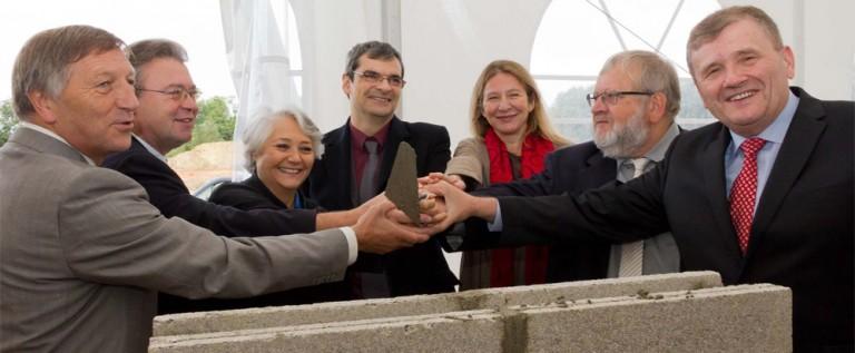 Pose de la première pierre de l'EHPAD de Villers-Cotterêts