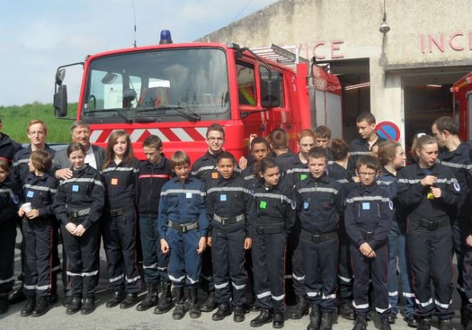 Visite du Centre de secours de Viels-Maisons (02540)