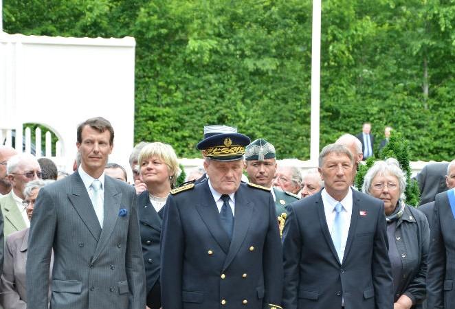 Hommage solennel aux victimes danoises à Braine