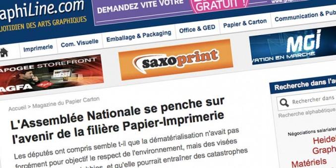 """Graphiline – """"L'Assemblée Nationale se penche sur l'avenir de la filière Papier-Imprimerie"""""""