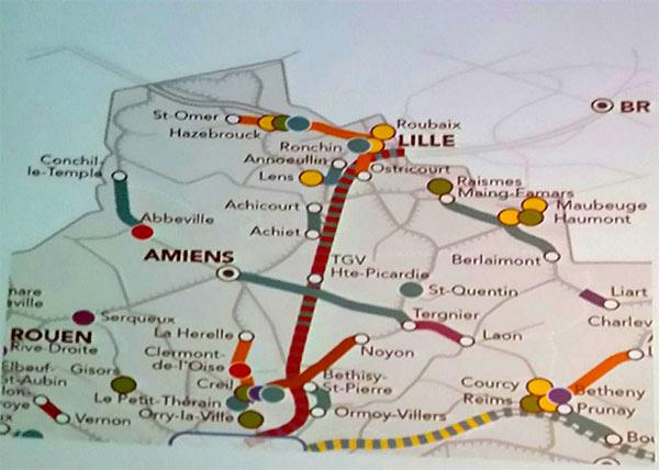 La carte présentée montre bien l'absence des lignes dans le Sud de l'Aisne...