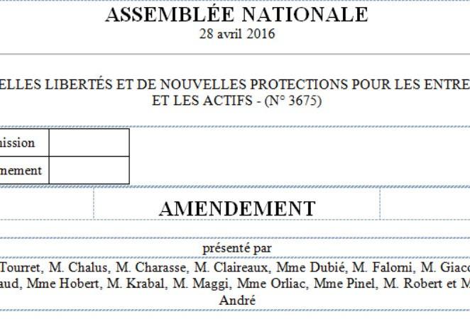 """Loi """"travail"""" : les amendements déposés par le groupe RRDP"""