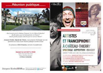 Rendez-vous samedi 1er avril autour de la francophonie